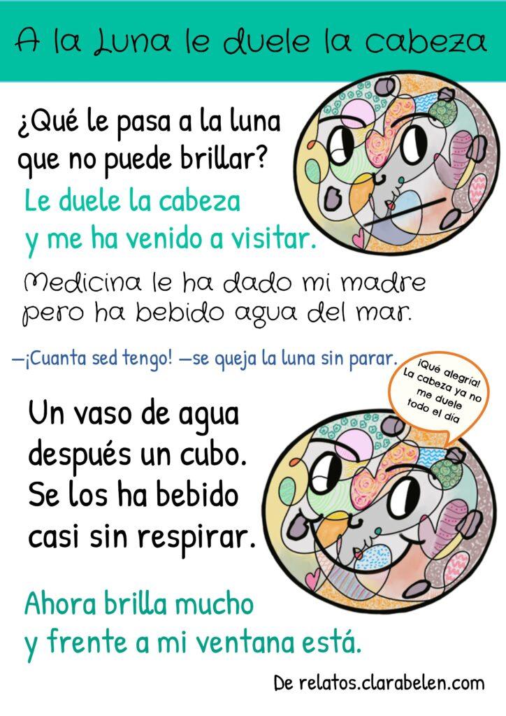 Poesía infantil de la Luna de Clara  Belén Gómez